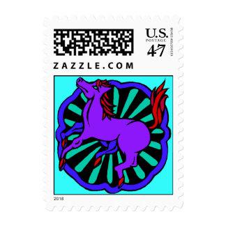 Año chino del sello del caballo dentro del zodiaco