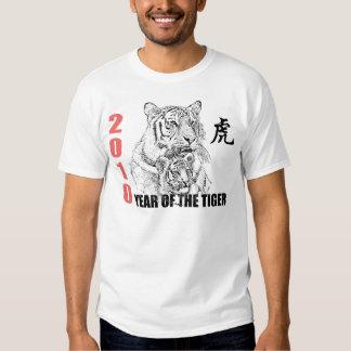 Año chino del tigre 2010 camisas