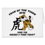 Año chino del tigre 2010 felicitación