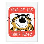 Año chino del tigre 2010 invitaciones personalizada