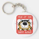 Año chino del tigre 2010 llaveros