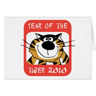 Año chino del tigre 2010 tarjeta de felicitación
