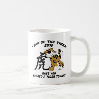 Año chino del tigre 2010 tazas de café