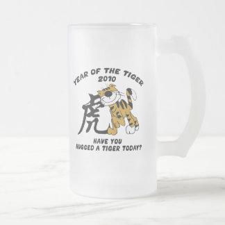 Año chino del tigre 2010 taza de cristal