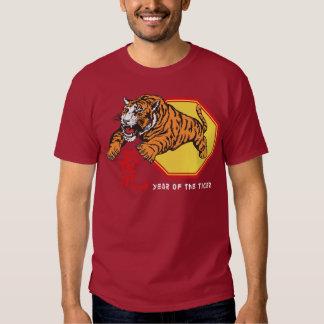 Año chino del tigre poleras