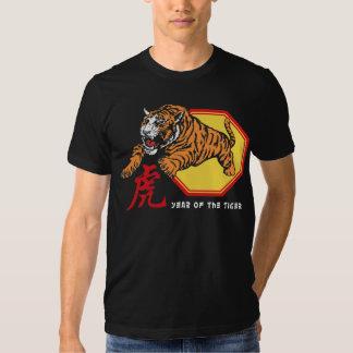 Año chino del tigre remera