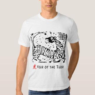 Año chino del tigre remeras