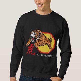 Año chino del tigre sudadera con capucha