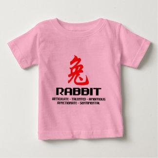 Año chino del zodiaco de la camiseta del conejo polera