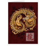 Año chino del zodiaco de la tarjeta de nota del dr