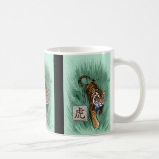 Año chino del zodiaco de la taza del tigre
