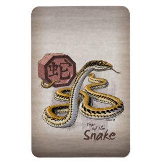 Año chino del zodiaco del arte de la serpiente iman de vinilo