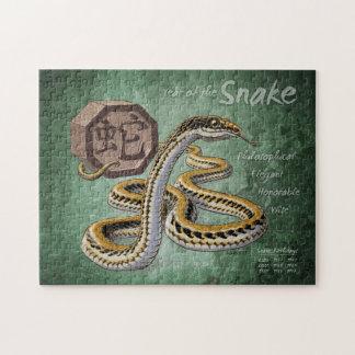 Año chino del zodiaco del arte de la serpiente rompecabeza
