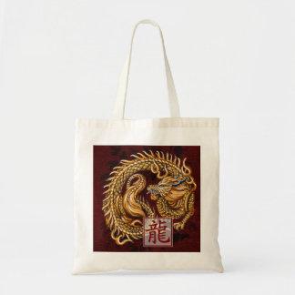 Año chino del zodiaco del bolso del dragón bolsas lienzo