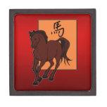 Año chino del zodiaco del caballo caja de regalo de calidad
