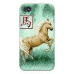 Año chino del zodiaco del caso del caballo iPhone4 iPhone 4 Cárcasa