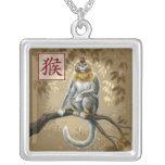 Año chino del zodiaco del collar del mono