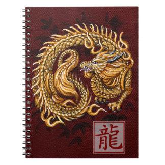 Año chino del zodiaco del cuaderno del dragón