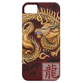 Año chino del zodiaco del dragón iPhone4 BarelyTh iPhone 5 Fundas
