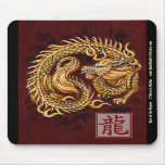 Año chino del zodiaco del dragón Mousepad Tapetes De Ratón