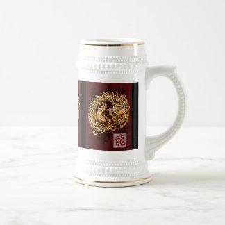 Año chino del zodiaco del dragón Stein Taza De Café