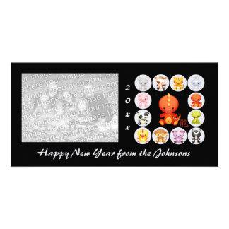 Año chino del zodiaco del dragón tarjetas personales
