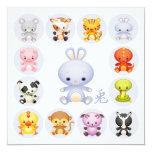 Año chino del zodiaco del fiesta del conejo invitación 13,3 cm x 13,3cm