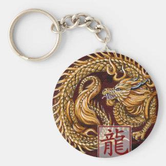 Año chino del zodiaco del llavero del dragón