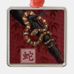 Año chino del zodiaco del ornamento de la serpient ornamento para reyes magos