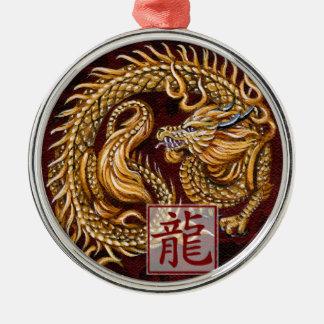 Año chino del zodiaco del ornamento del dragón ornamente de reyes