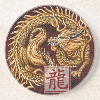 Año chino del zodiaco del práctico de costa del dr posavasos para bebidas