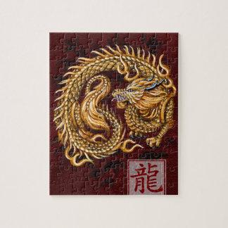 Año chino del zodiaco del rompecabezas del dragón