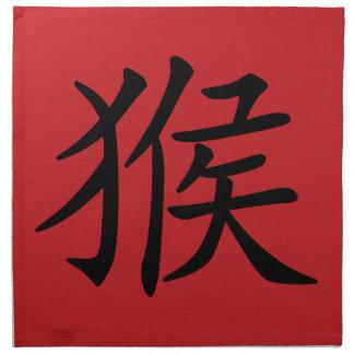 Año chino del zodiaco del símbolo del mono servilletas de papel