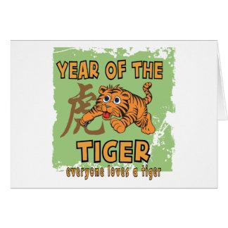 Año chino lindo del tigre tarjeta de felicitación