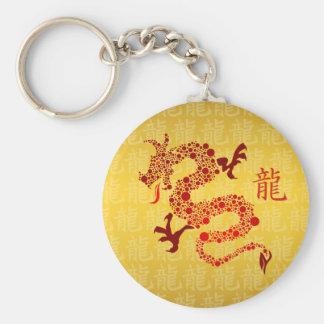 Año chino rojo del llavero del dragón