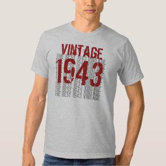 Año de 1943 cumpleaños el mejor vintage 1943 W1988 Remera