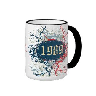 Año de 1989 cumpleaños o desde 1989 o hecho en 198 taza de café