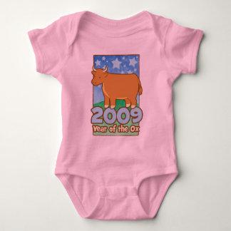 Año de 2009 niños de enredadera del niño del buey body para bebé