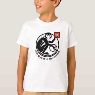 Año de 2016 chinos de las camisetas del mono