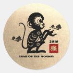 Año de 2016 chinos de los pegatinas del regalo del pegatina redonda