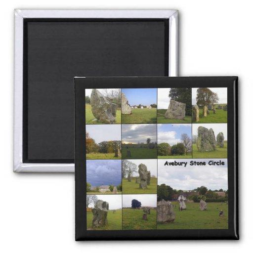 Año de Avebury Imán Cuadrado