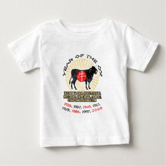 Año de camiseta del niño de las calidades del buey