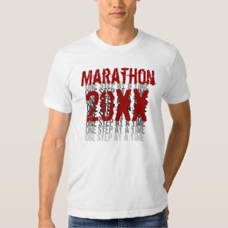 Año de encargo del maratón - un paso a la vez playeras