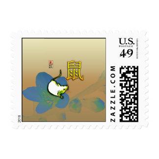 Año de franqueo del ratón de la tierra timbres postales