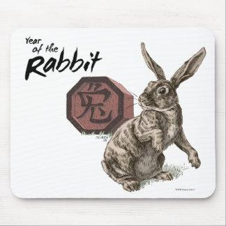 Año de la astrología china del zodiaco del conejo tapetes de raton