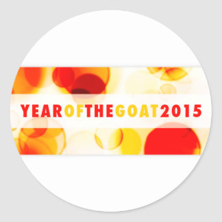 año de la cabra 2015 (bokeh) etiquetas redondas