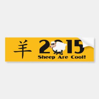 Año de la cabra 2015 del espolón de las ovejas pegatina para auto
