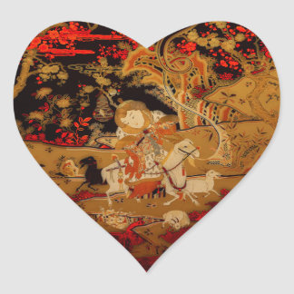 Año de la cabra 2015 - pegatinas pegatina en forma de corazón