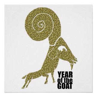 Año de la cabra de 2015 ovejas del espolón - perfect poster