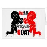 Año de la cabra de 2015 ovejas del espolón - tarjetón